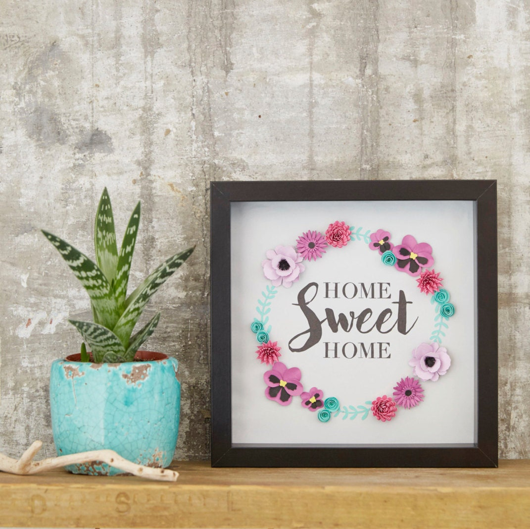 Home Sweet Home Handmade Picture Housewarming Gift Gift for Home Wall Decor Picture Gift for New Home Home decor Unique Home Gift