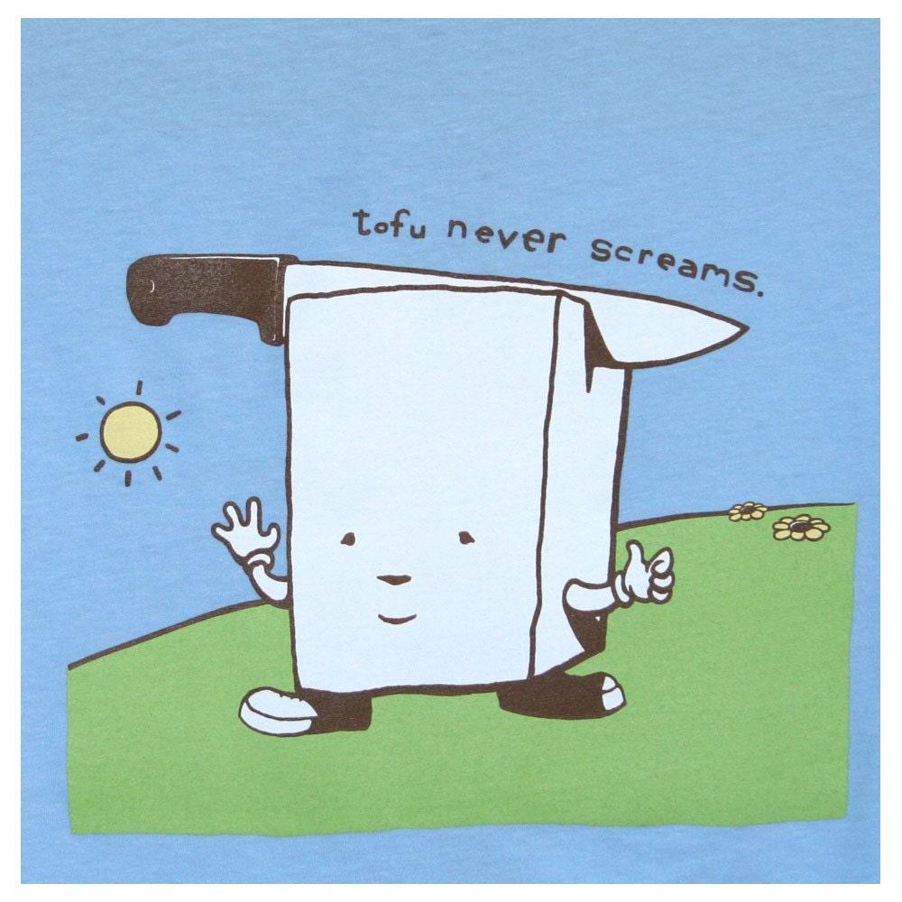 Tofu Never Screams Organic Mens T-Shirt