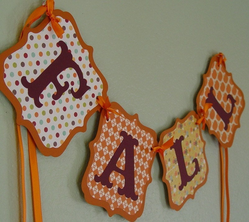 FALL Banner/Garland, Thanksgiving, Autumn, decoration