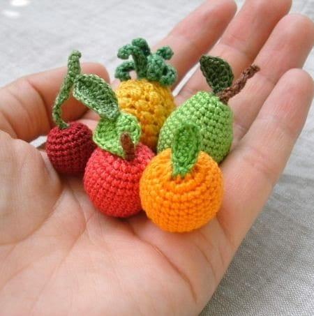 Amigurumi Fruit : Look at this Little Thing! - Mini Amigurumi Fruits ...