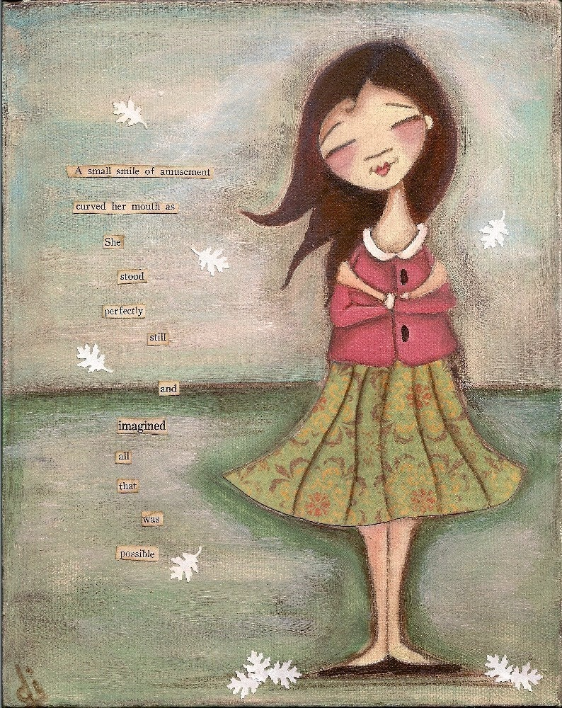 Print of my original folk art Painting - STANDING STILL