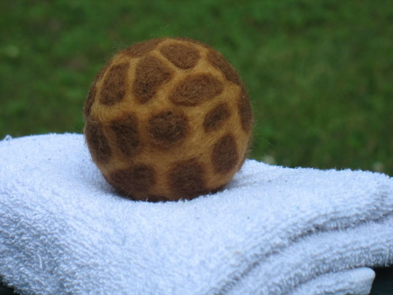 Giraffe Needle Felted Wool Dryer Ball