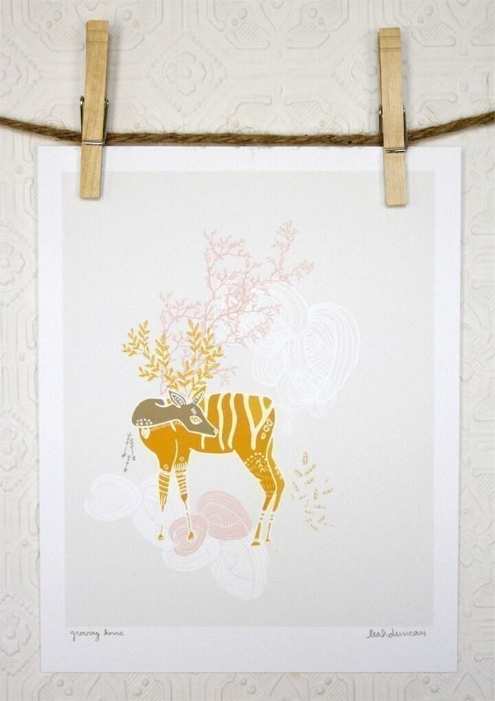 Growing Horns Print 8 x 10