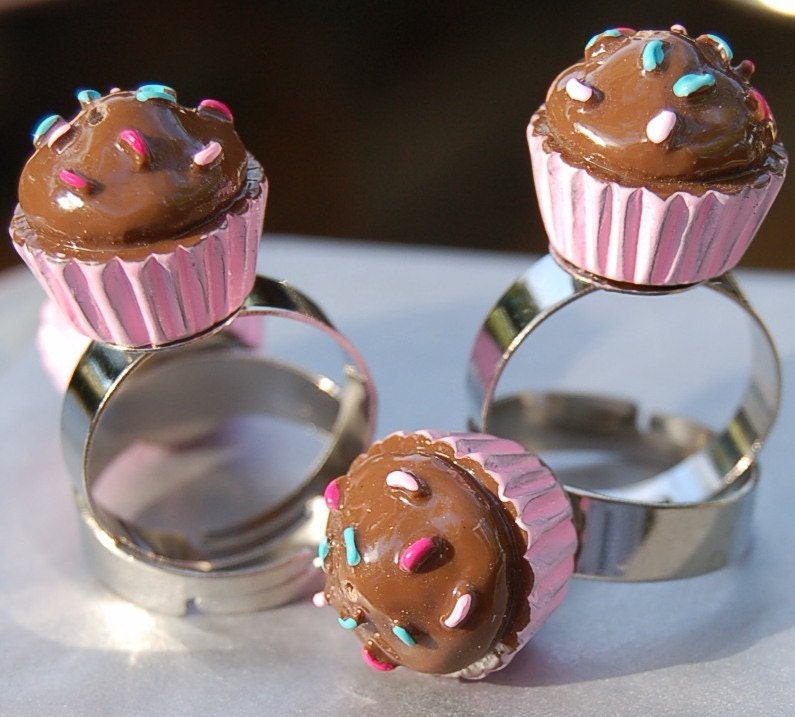 My Sweet Valentine Cuppy Cake Cupcake Ring Yummy Chocolate