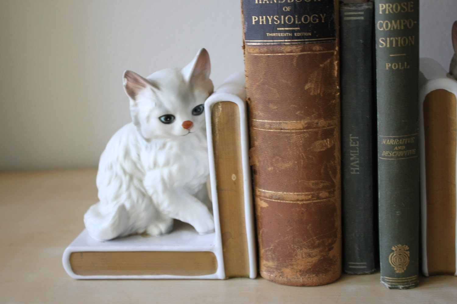 Very Vintage Lefton's Ceramic Little Kitty Bookends