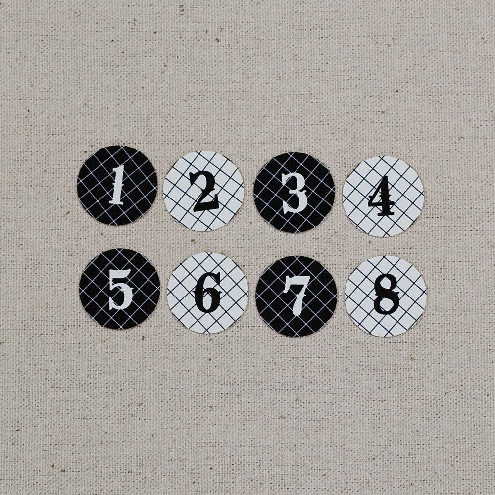 Tiny Number Tags Black