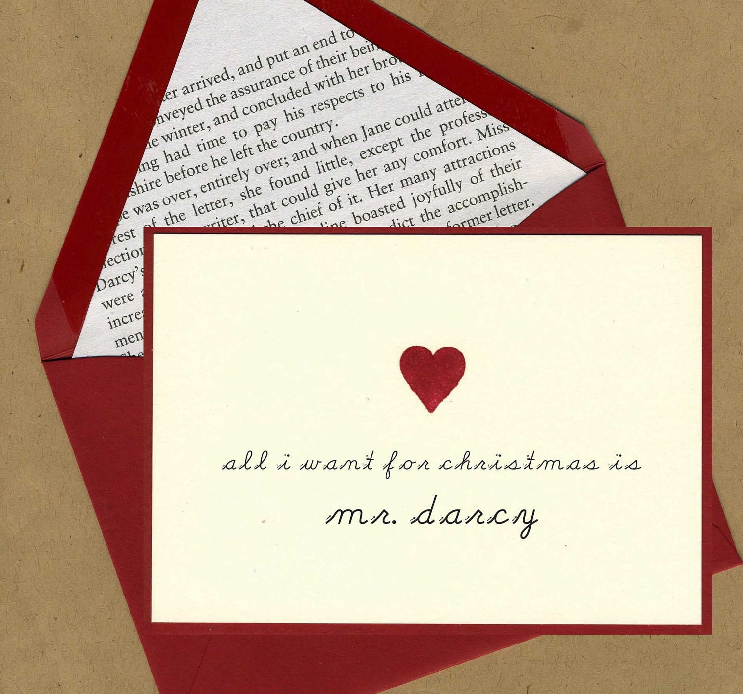 mr darcy holiday card