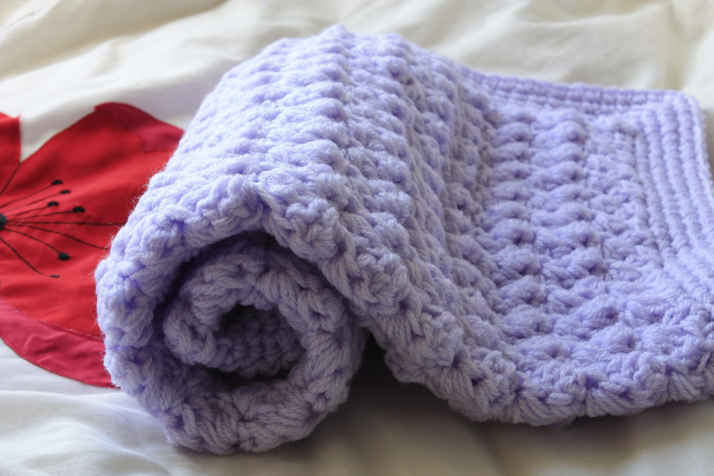 Handmade crochet baby blanket. Cream puff stitch. by ...