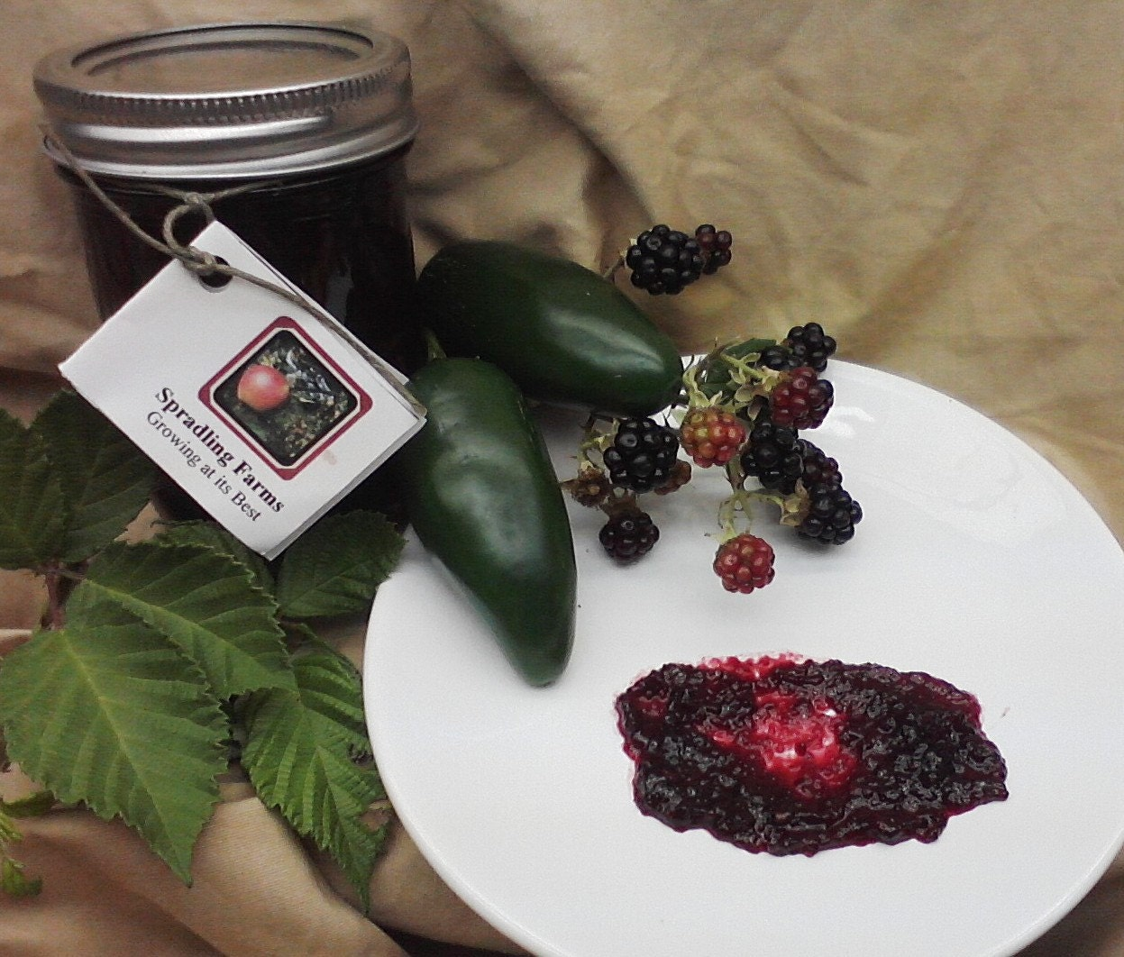 Half Pint jar of Jalapeno Blackberry Jam