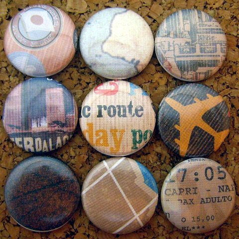 Travel Push Pins  (one inch)