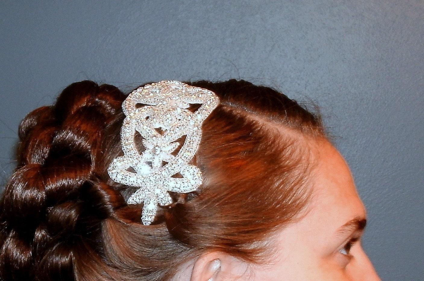 Crystal   Rhinestone Encrusted and beaded Glamour Wedding Headband