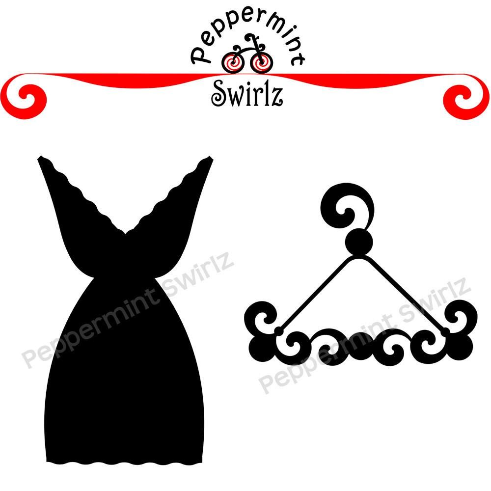 Little black dress on hanger clipart