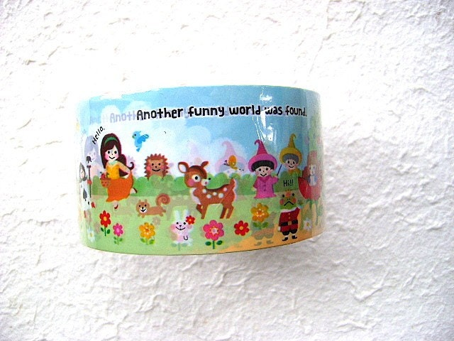Cute Japanese Sticker Tape Funny Funny It is A Pleasant Story Wide