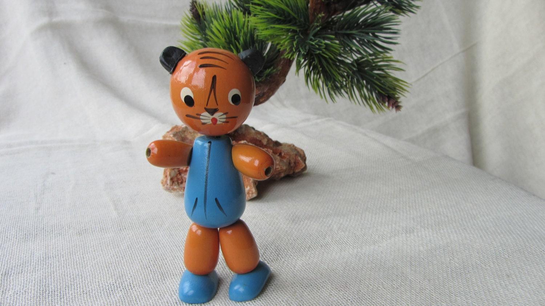 Cat Wooden Russian doll, USSR home decor doll, Wooden Russian Cat figurine, Russ