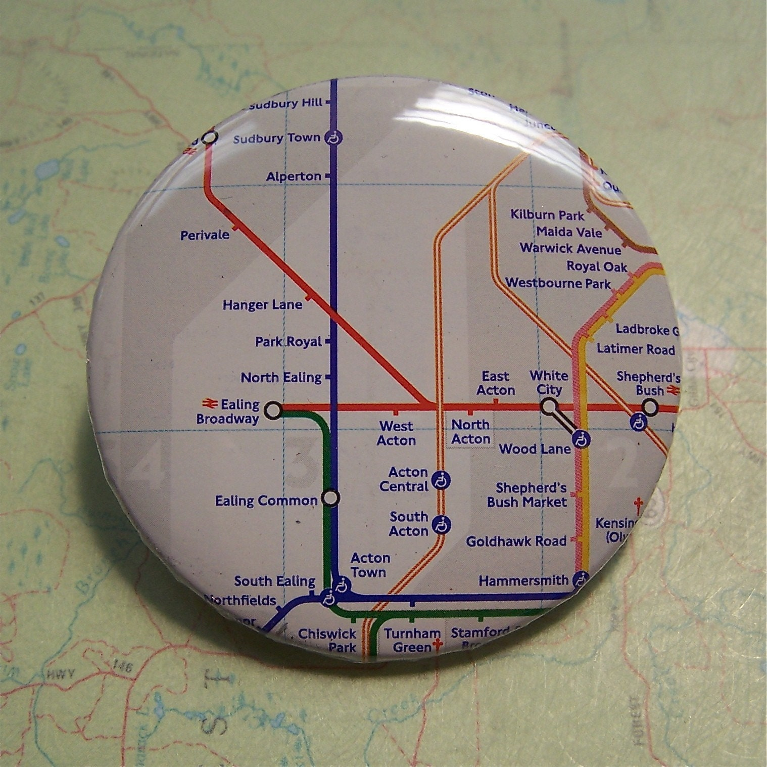 London Underground map pin