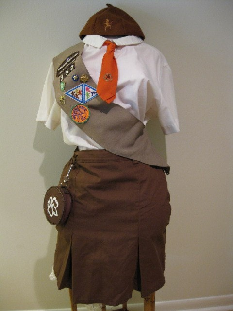 Vintage 50s 60s Brownie Girl Scout Costume by KitschAndCanoodle