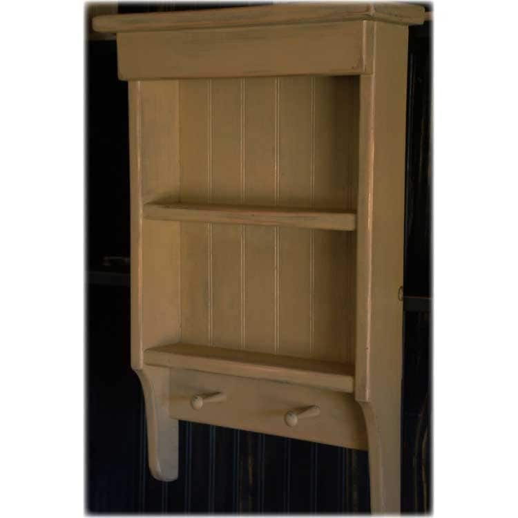 items similar to primitive wall cabinet and peg shelf in mustard on
