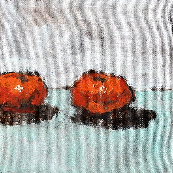 Orange Clementine Still Life Original Art Painting
