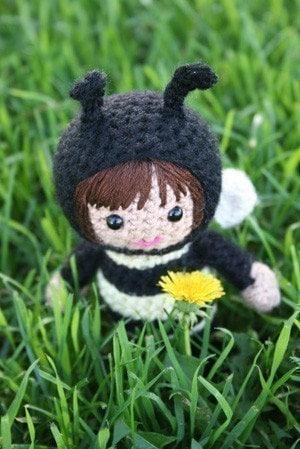 Crochet Pattern- Alexa the bee amigurumi doll