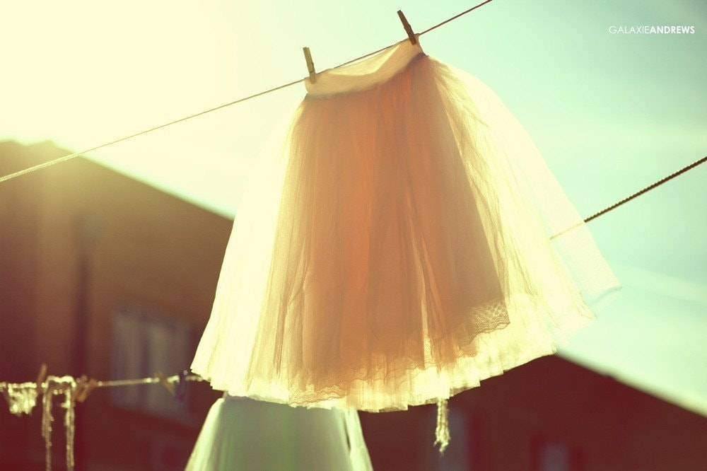 Hand Dyed Tea Length Tulle Skirt
