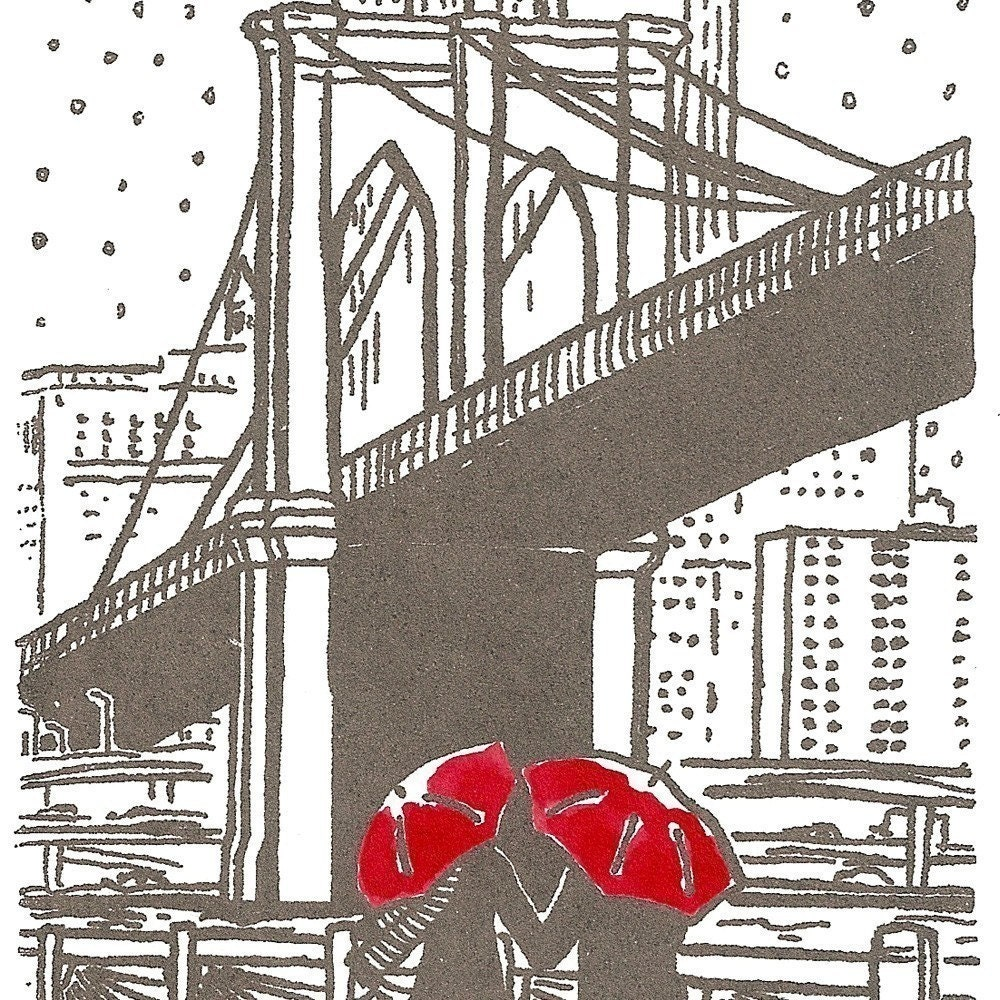 New York Love gocco print- Gray