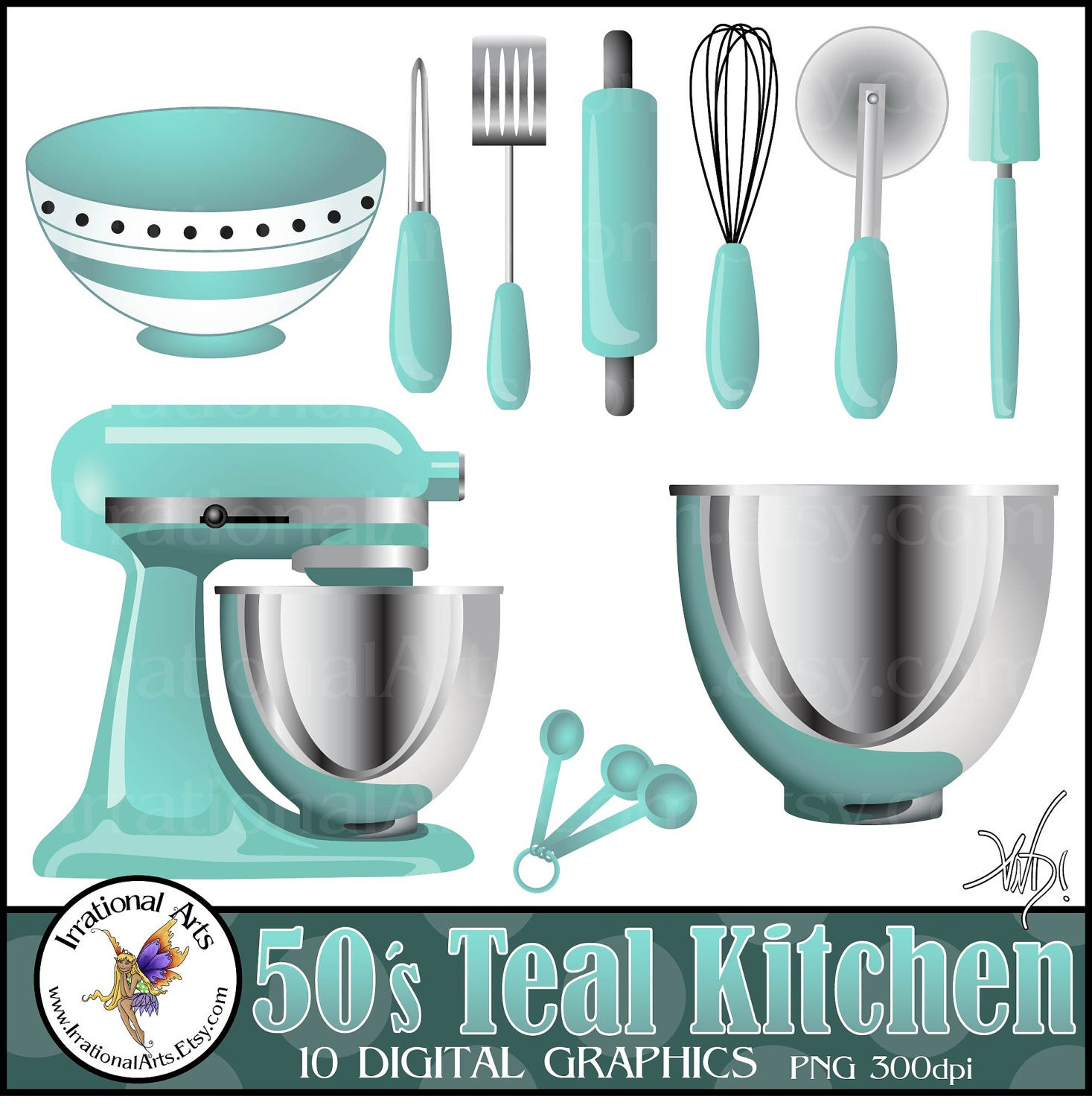 Popular items for teal kitchen on Etsy