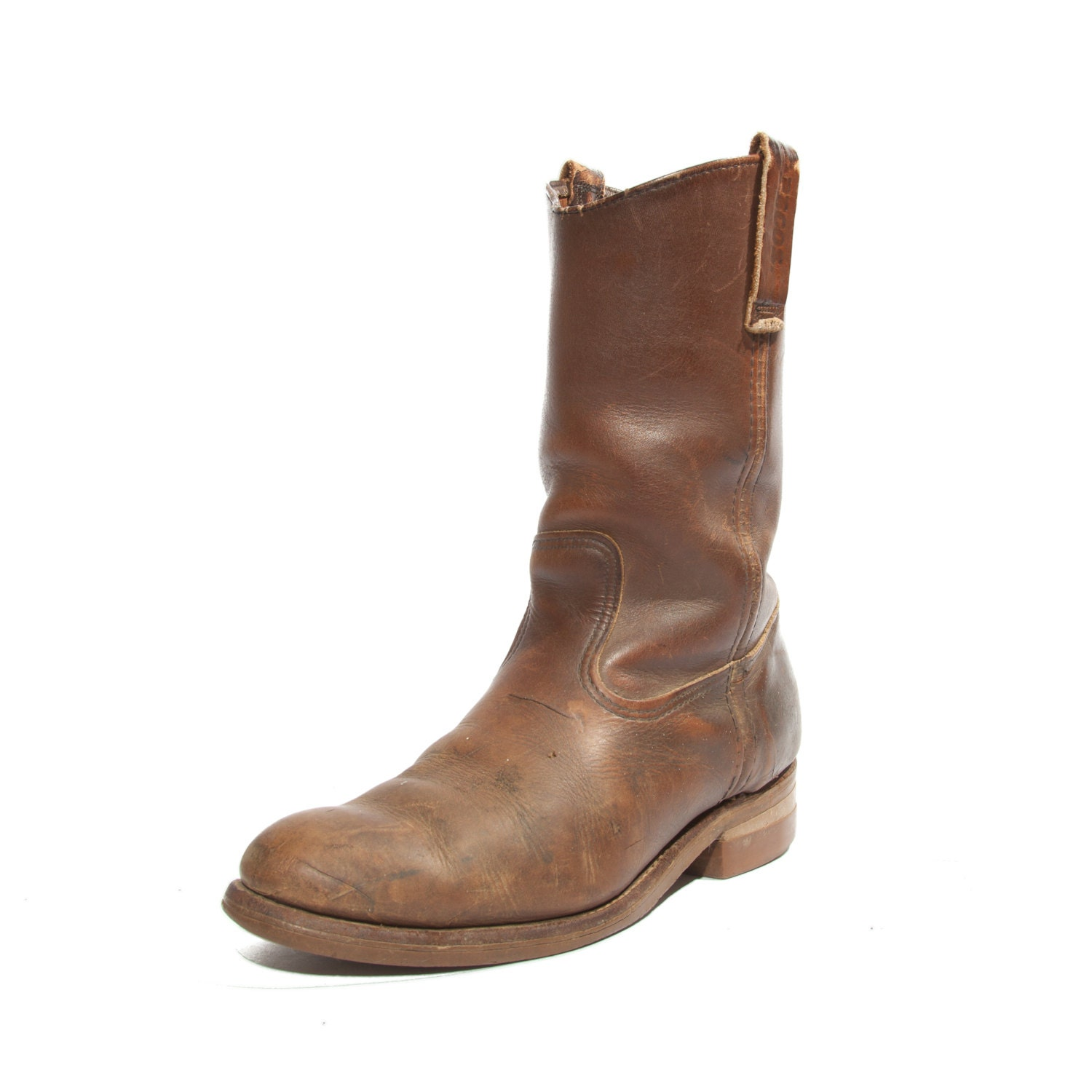 wing boots s pecos boots in rustic brown by