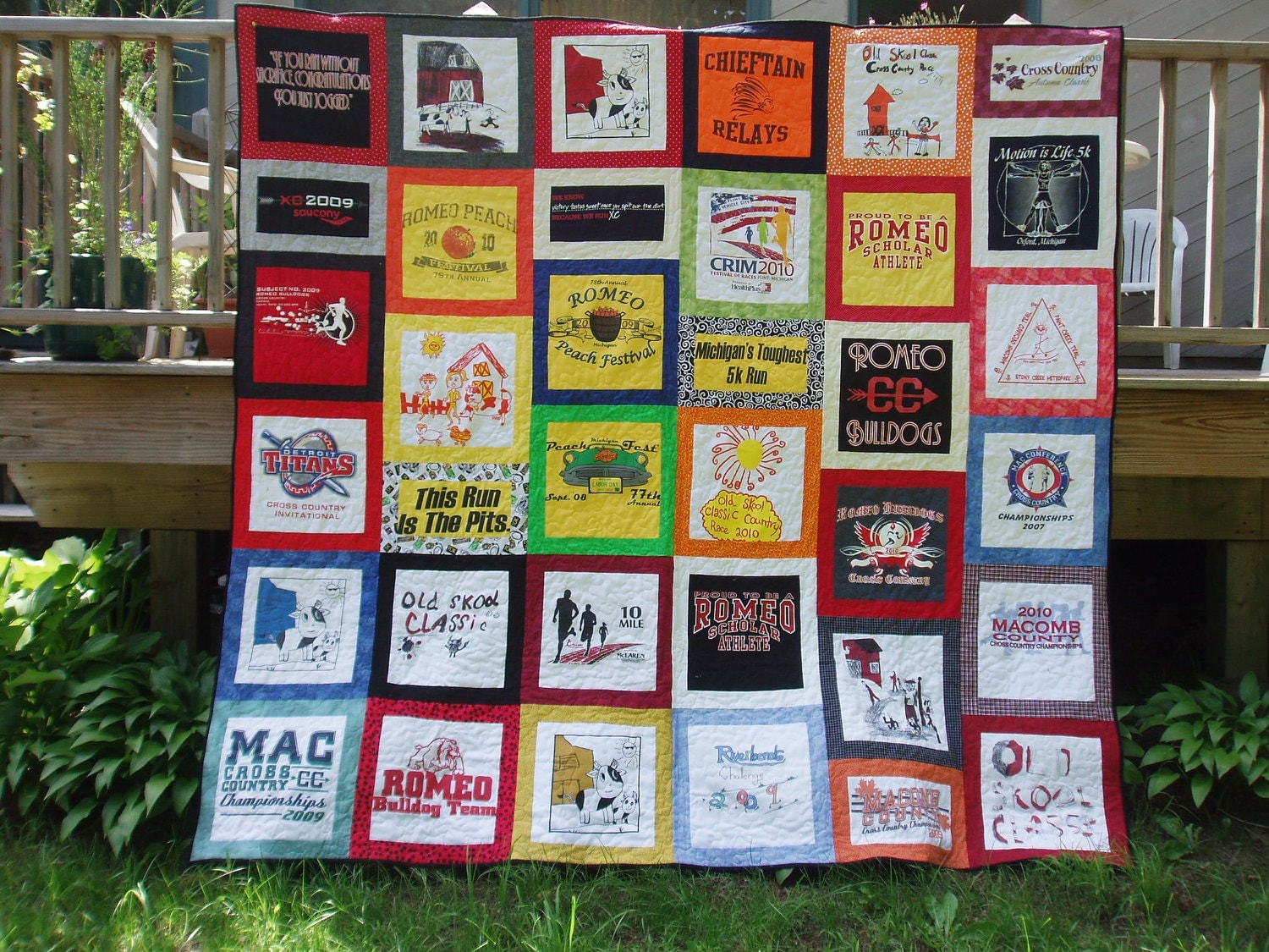 T Shirt Quilt Pattern Queen : Queen Size Tshirt Quilt CUSTOM ORDERS 36 by BarbMalmTshirtQuilts