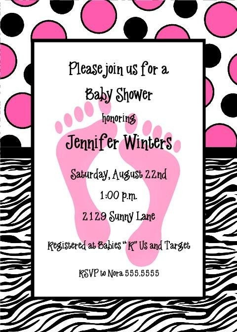 Zebra baby shower invitations - Imagui