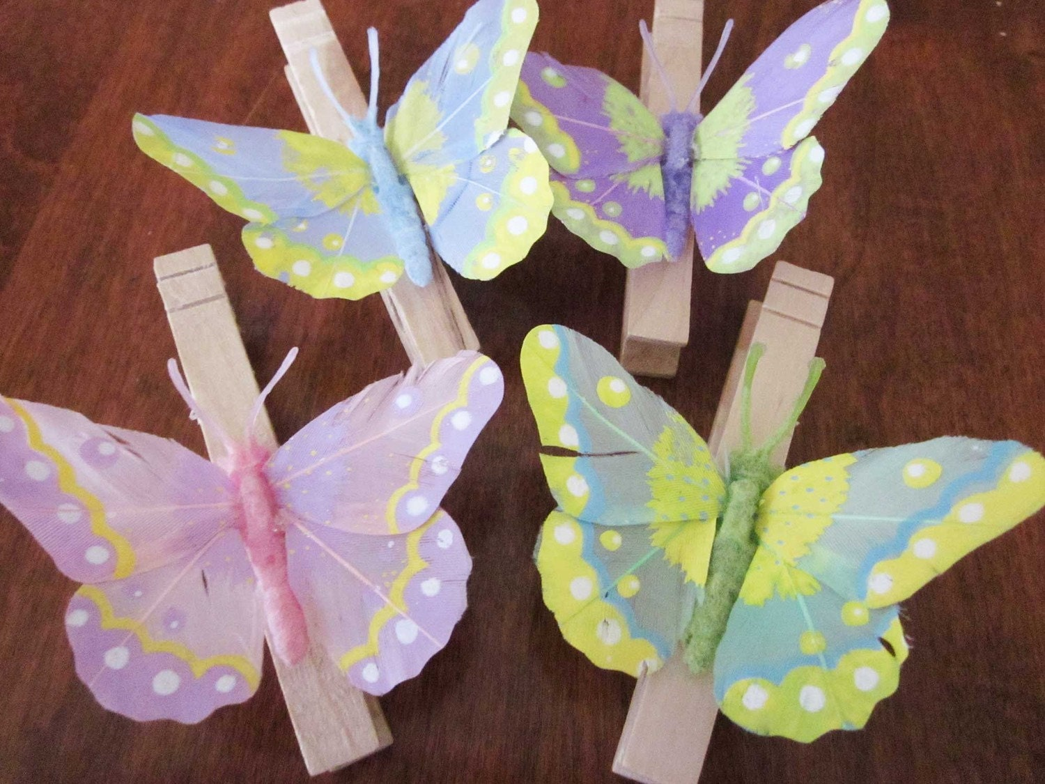 Spring Butterfly Clothes Pins