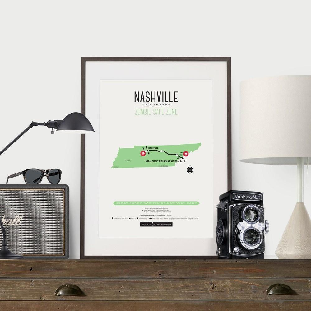 Nashville poster frame kit