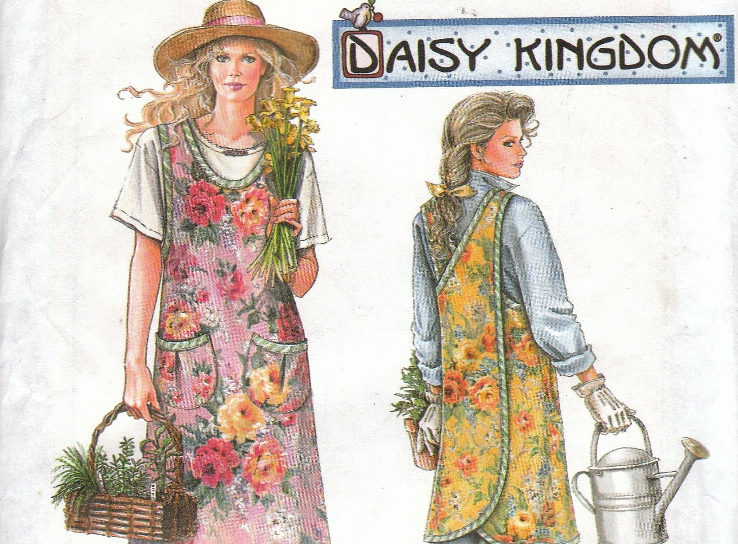 Daisy kingdom apron pattern simplicity 9245 by onemorecupoftea