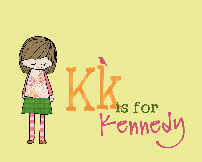Kk is for... letter print