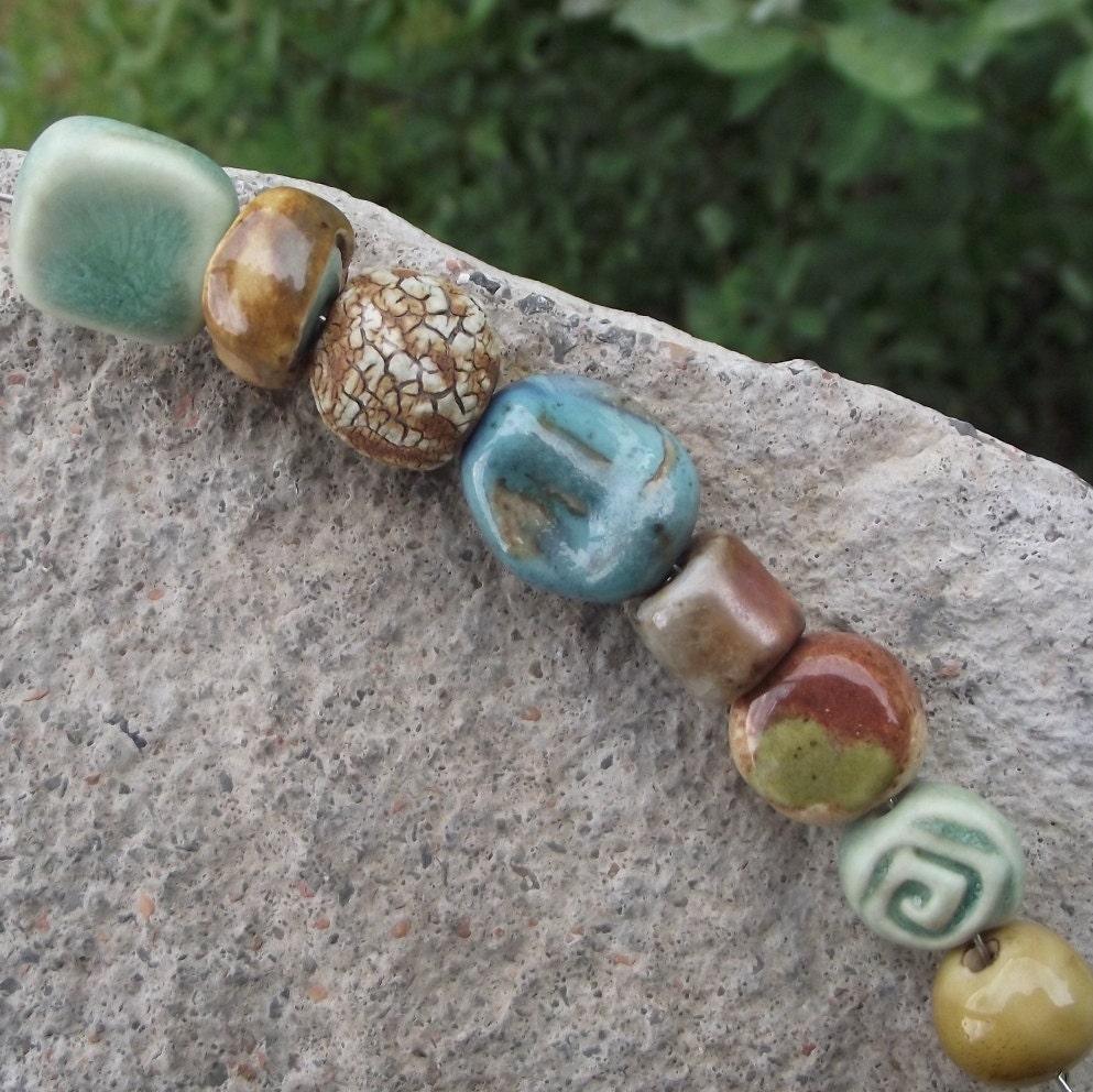 SAMPLER SET... handmade porcelain, wood-fire and stoneward beads