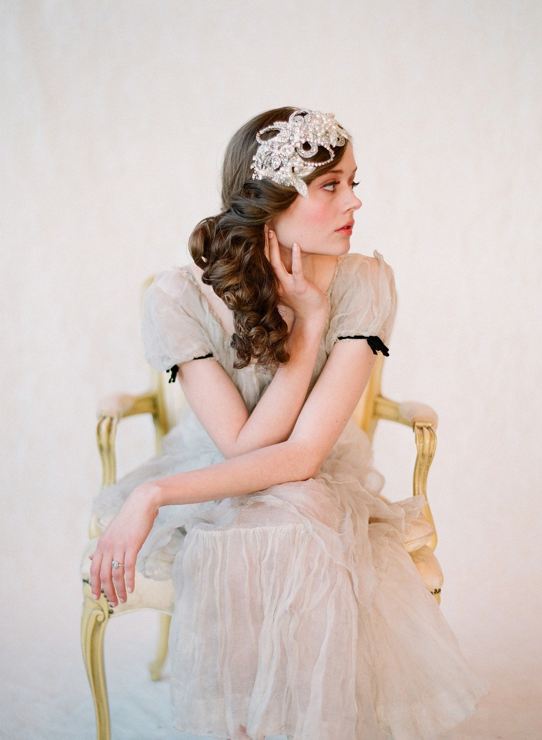 Glimmering rhinestone headband - Style 132 - Made to Order