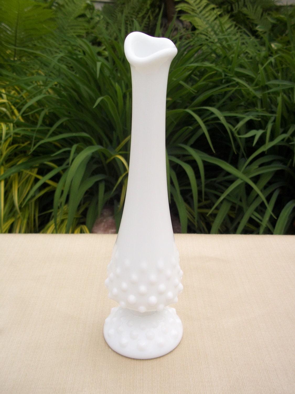 items similar to fenton milk glass hobnail bud vase on etsy. Black Bedroom Furniture Sets. Home Design Ideas