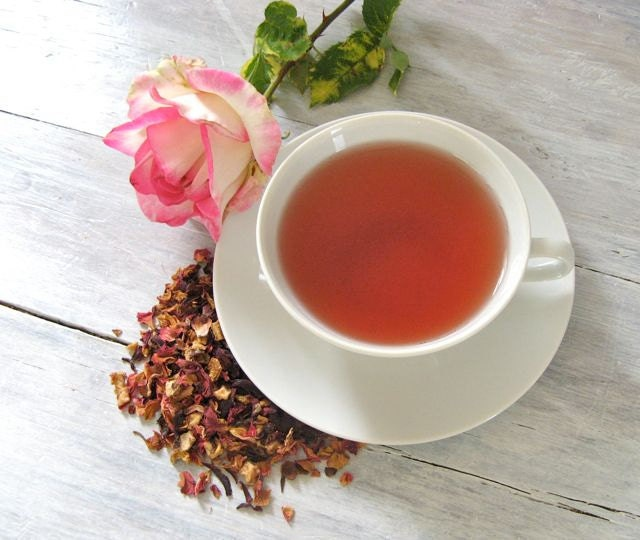 Rose Petal Raspberry Fruit Tea | ArtfulTea Luxury Herbal Blend of Loose Leaf Tea | Caffeine Free | Gift for Valentine - ArtfulTea