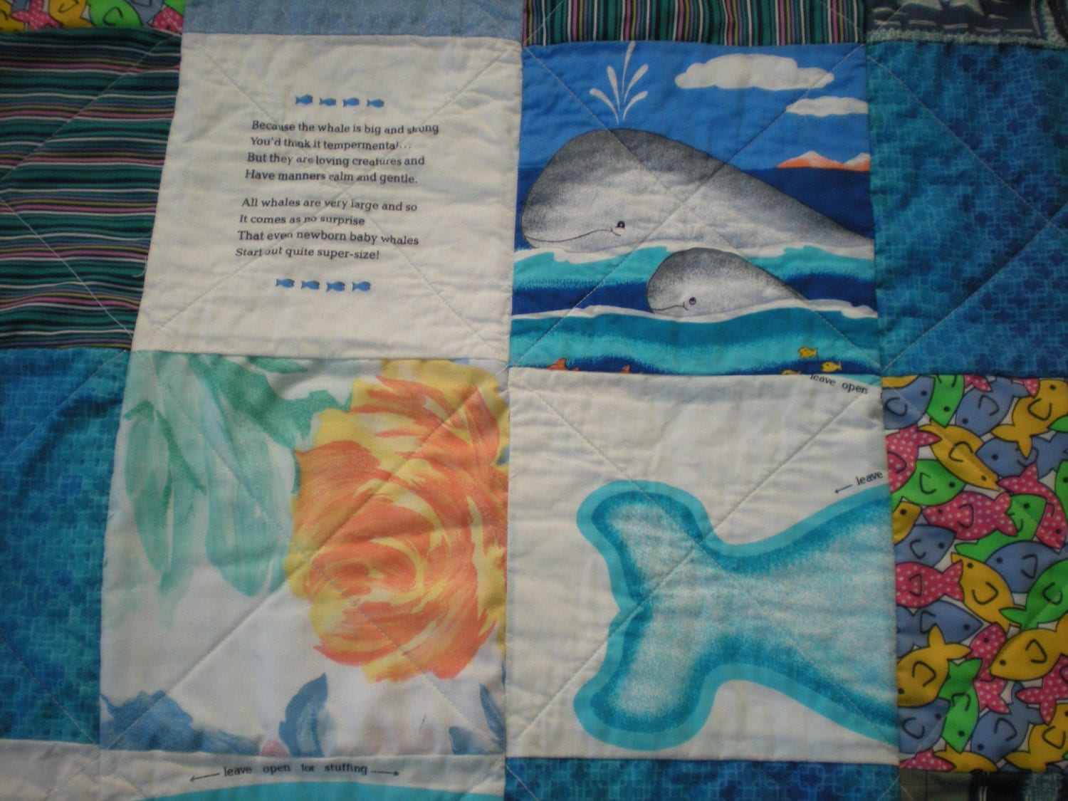 RESERVED FOR PURCHASE Marina, the Quilt with a Porpoise