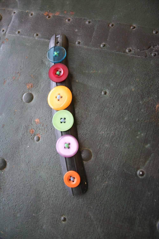 Inner tubes and buttons bracelet