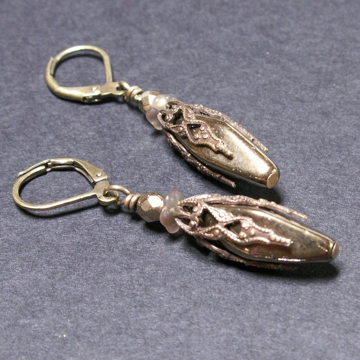 handcrafted earrings jewelry brass filigree