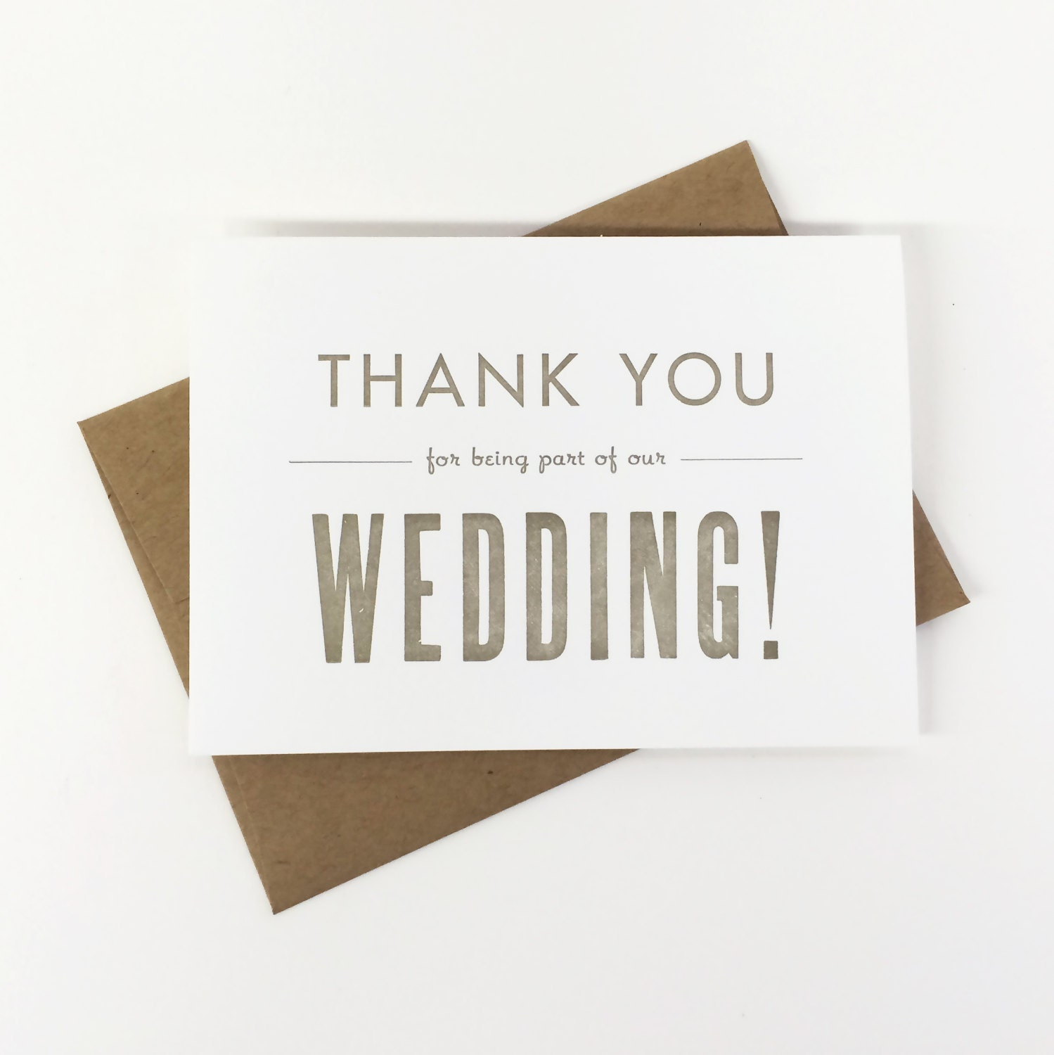 Wedding Thank You Card  Bulk Pack Thank You For Being A