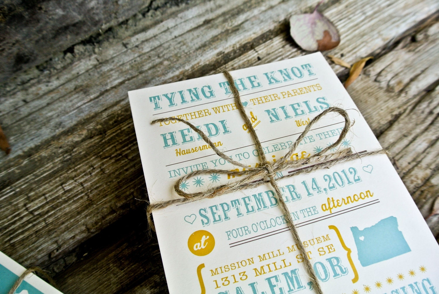 Unavailable listing on etsy for The knot wedding invitation language