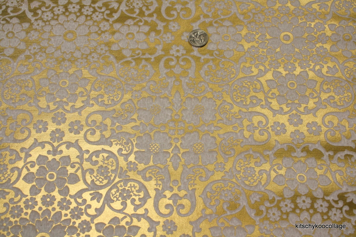 1970 39 s flocked vintage wallpaper white and by retrowallpaper