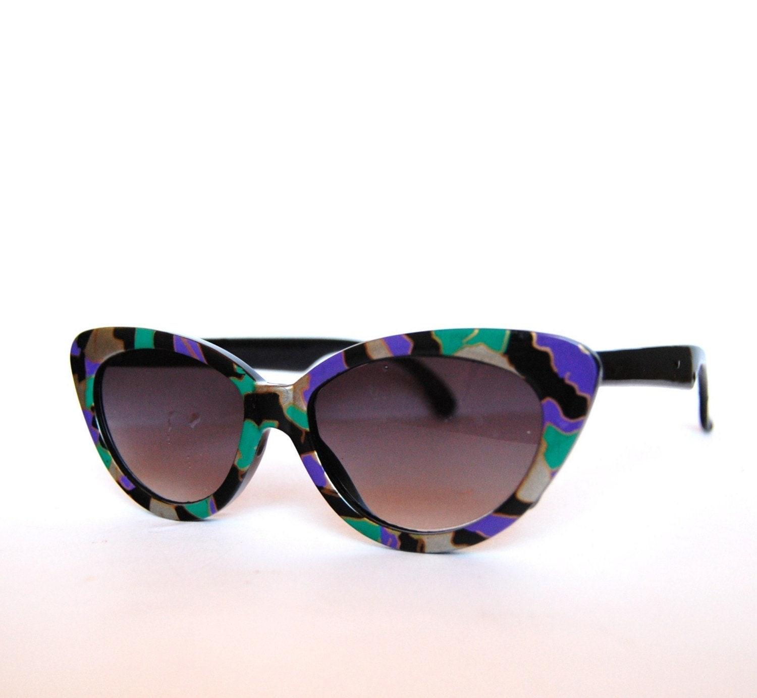 Vintage funky cat eye sunglasses Germany by RetroEyewear on Etsy from etsy.com