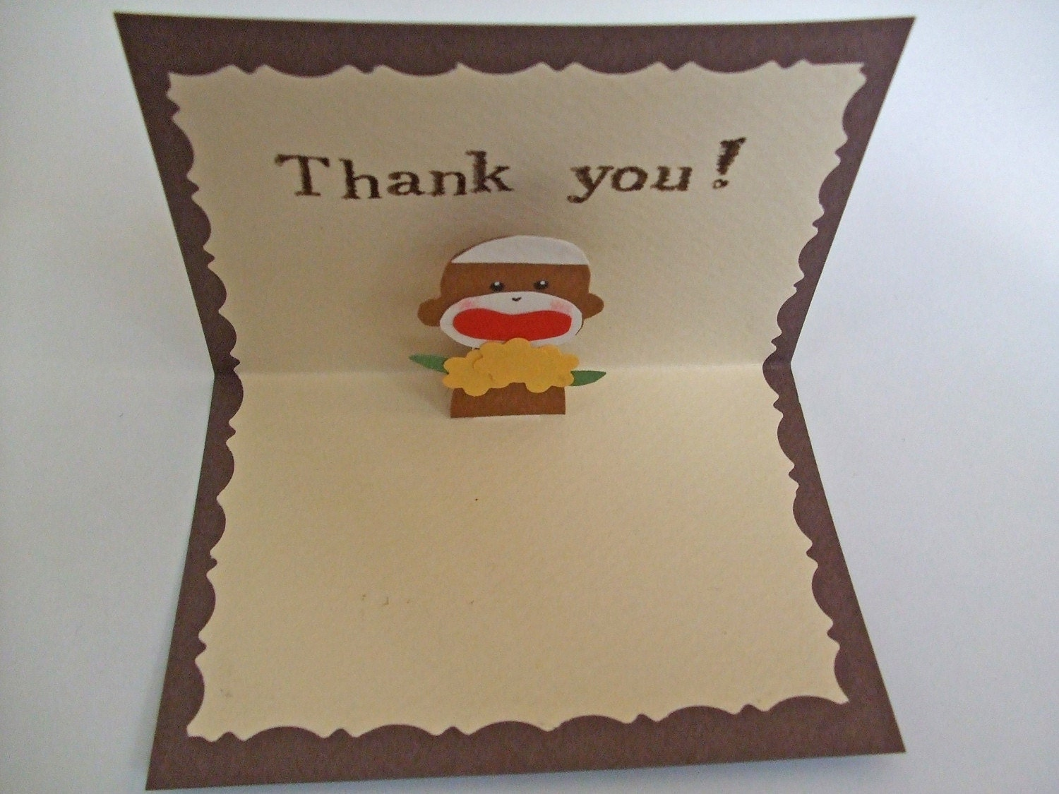 Sock Monkey Pop-up Card(Thank you)