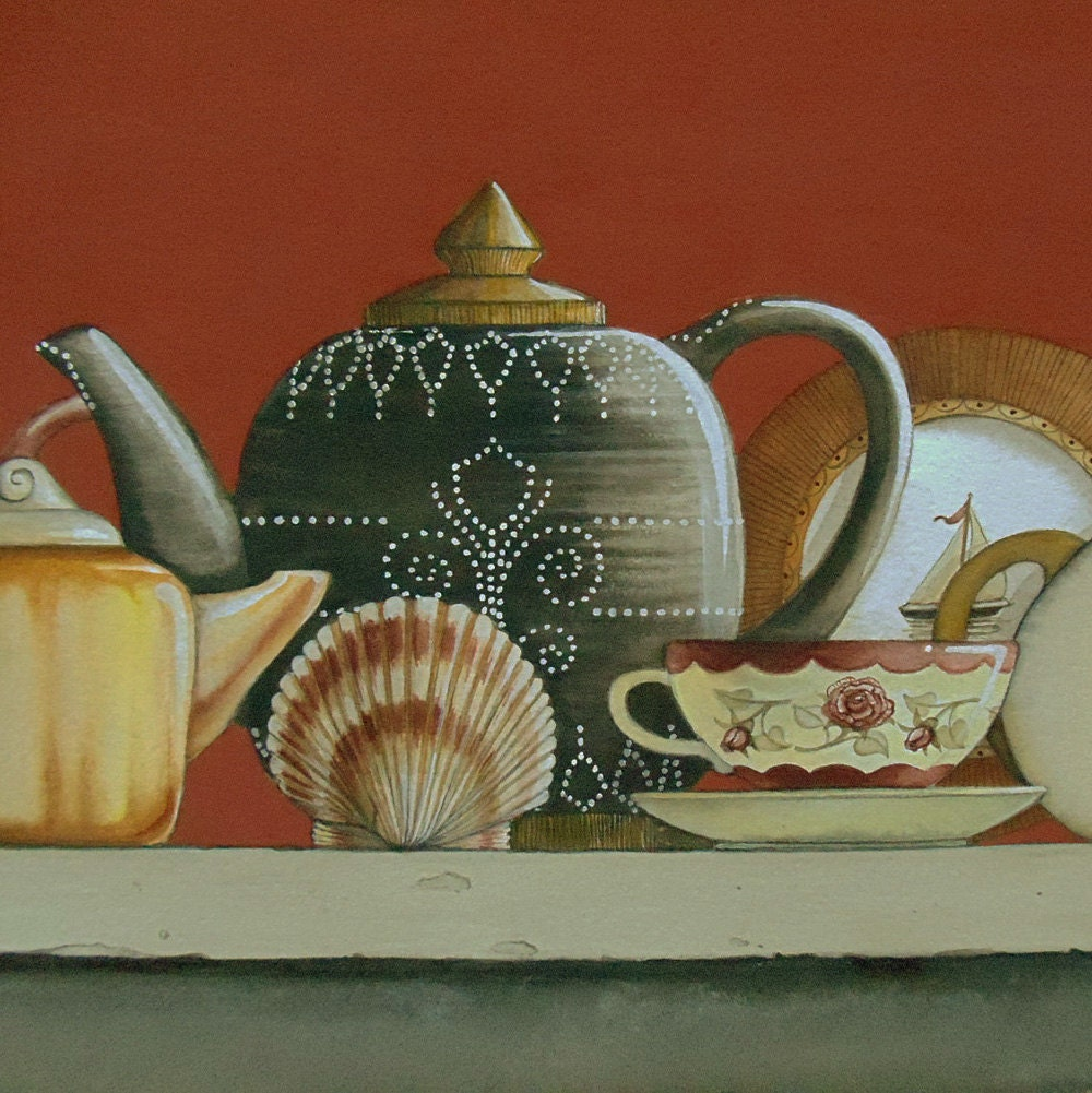 Original Painting Collection of Teapots