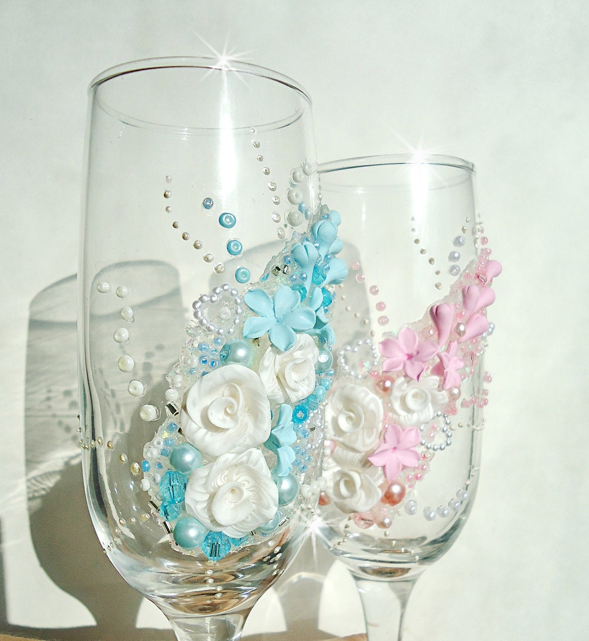 Wedding Champagne Glasses Personalized Flutes By
