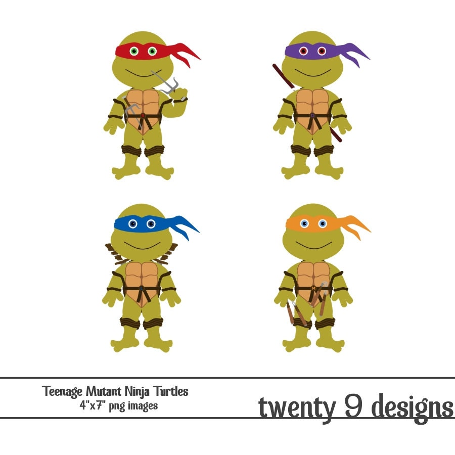 Items similar to Teenage Mutant Ninja Turtles Clip Art- INSTANT DOWNLOAD on Etsy