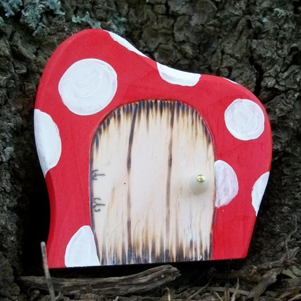 Волшебную дверь, Дали Стиль, магический портал 3 1 / 2 дюйма Красный гриб