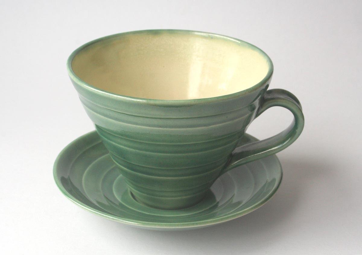 Big Green Cup & Saucer